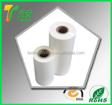 2015 China hot selling china supplier glossy and matt thermal lamination plain BOPP film for basketball/packaging