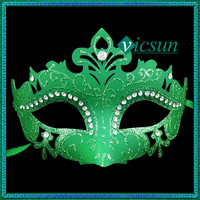 PVC-057 Yiwu Caddy New fashion carnival decoration luxury and noble venice rhinestone face masks for sale, party masks