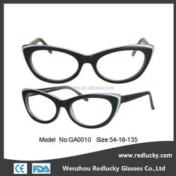 China products high quality fancy fashion latest optical acetate frames oem
