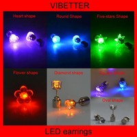 fashion led lighted earrings for lady girl battery include fashion earrings for 1 dollar