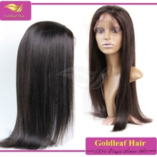 Factory wholesale 100 human hair wig grade 6A cheap human lace front wigs with bang