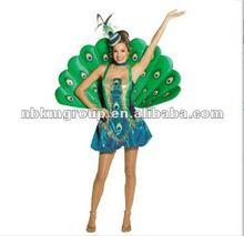 Fancy Peacock Adult Girl's Costume