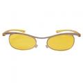 vintage plástico amarelo lentes de óculos de visão noturna condução das mulheres