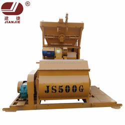 JS500 Twin Shaft electric automatic concrete mixer