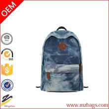 Casual Denim Backpack Fashion Girls Boys Students Middle School Bag