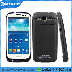 Factory price power bank for Samsung Galaxy S3 case charger with kickstand