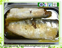 Canned fish sardine in vegetable oil
