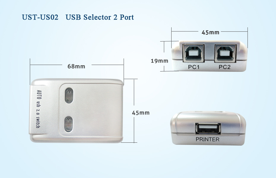 2 Port Usb Hub 2 Port Usb 2 0 Auto Sharing