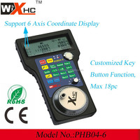 Mini MPG cnc wireless remote controller, key button+ Hand wheel+ LCD display PHB04-6