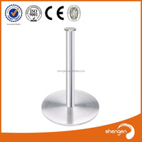 HD205 Furniture parts supply cabriole big round brushed aluminum table legs for sale