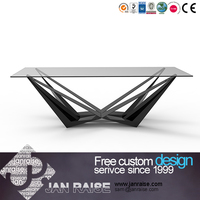Dining room table dining set mirrored dining table
