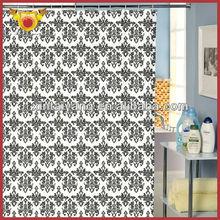 Diseño decorativo cuarto de baño de lujo cortinas de ducha de poliéster, cortina para los niños y adultos