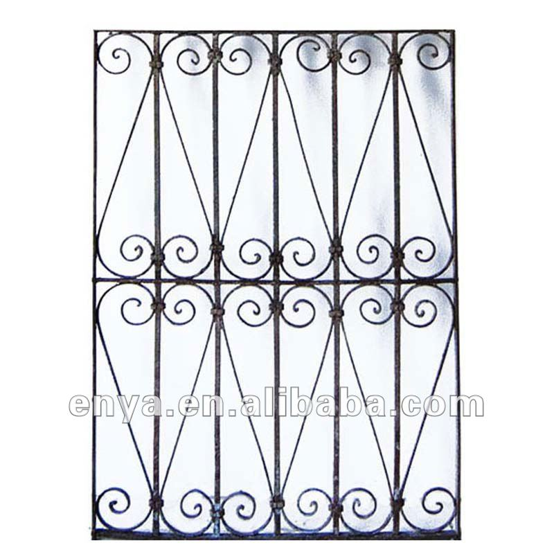 Iron window grill design metal window grills design product on alibaba - Security Iron Window Grill Panels Metal Decorative Window