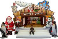 Inflatable Christmas Santa Claus inflatable Bouncer Castle Slide