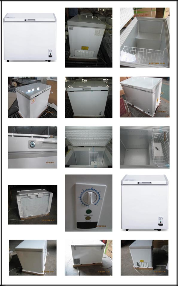 200L single Solid Top door chest Freezer with lock key and CE