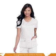 Custom poly cotton nurses dress uniform patterns design pictures