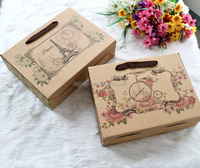 Durable paper drawer cardboard box carry handle