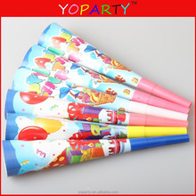 baby or children birthday paper party horn