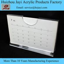 New! Transparent one piece plastic acrylic calendar frames holder ticket frame holder