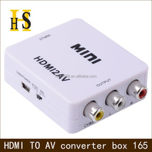 hdmi to av converter ic 165 hot selling hdmi to rca for tv set hdmi input to rca output high quality hdmi female to rca male