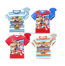 2015 New Summer boys cotton t shirt Paw Patrol t-shirt for kids baby children cartoon dog dog Patrol clothing