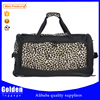 fashion style printed travel bag waterproof nylon bag travel with double handle and shoulder belt