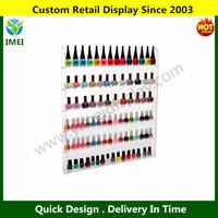 6 Shelf Pro Clear Acrylic Nail Polish Rack / Salon Wall Mounted Organizer Display YM5-920