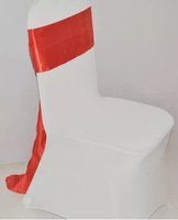 fabric organza,satin sash wedding chair cover at factory price