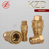 KZD iso 7241-1 series b copper pressure water hose quick connect coupler