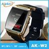 New desigen cheap micro sim card watch phone W2 smart watch phone