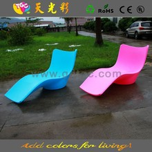 TGC plastic colorful chair and LED illuminated furniture for outdoor furniture, hotel furniture
