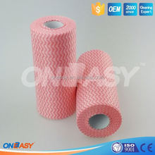 spunlace nonwoven cleaning wipe / cleaning cloth(viscose&polyester) for kitchen