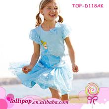 Hot sales girl aqua wholesale cotton baby cinderella dresses for girls