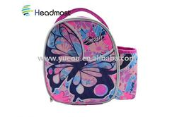 fashionable wine bottle cooler bag Embossing non-woven fabric insulated cooler bag promotional cooler lunch bag