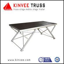 Folding aluminum stage/mobile stage