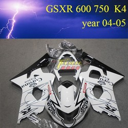 Motorcycle Fairing kit for SUZUKI GSXR600 750 K4 year 2004 2005