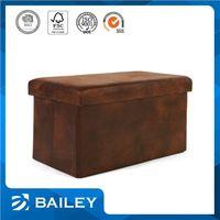 Elegant Top Quality Decorative Storage Fabric Foldable Storage Ottoman Stool Cube