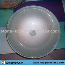 Silver grey glass vessel