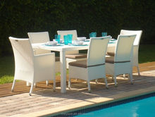 All weather synthetic rattan KD outdoor dining furniture