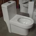Montado no piso tipo de instalação e de cerâmica, cerâmica wc intestino material de uma peça wc baratos design índia wc