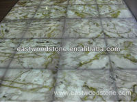 Translucent green marble