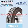 Tr659/tbr neumático/con el dot& gcc certificado/11r22.5 triángulo