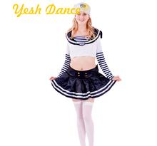 White and Ink Blue School Girl Lovely Sailor Girl Child Costume