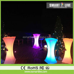 Hot sale new ideal glass top led bar table rechargeable battery led table bar