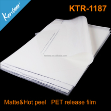 70 morcon 75 mircon 100mircon thickness transparent pet film for offset and screen printing