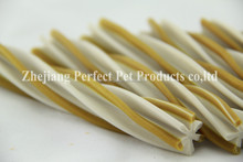 dog food extrusion (two-tone straight hexagonal natural dog chews)