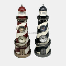 Lighthouse antique table clock as Christmas Decoration