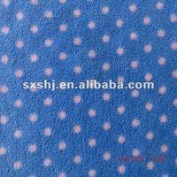100 Polyester Custom Dot Printed Polar Fleece Fabric