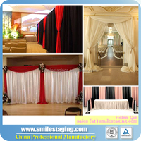 wedding ceiling drape fabric, chiffon drape for wedding decoration