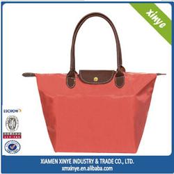 Hot sale nylon tote shopping bag Handled Style latest fashion women bags